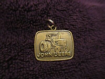 Brand New Condition/Unused Vintage John Deere Tractor Key Ring Fob. Very Rare.