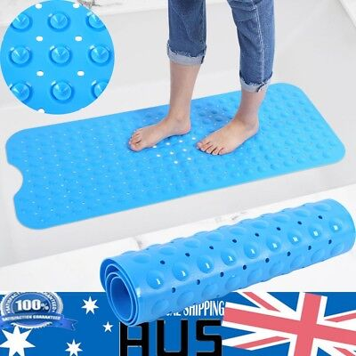 Anti-Slip Bath Foot Massage Pad Suction Rubber PVC Bathroom Shower Mat 100X40cm
