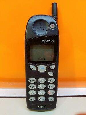 VINTAGE Nokia 5160i Black Cellular Cell Phone 1990s Old PhoneType nsw-1nx