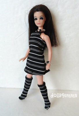 DAWN DOLL CLOTHES Retro Dress, Boots & Jewelry Angie Dinah Fashion NO DOLL d4e