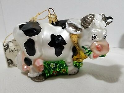 Kurt Alder Cow Glass Christmas Ornament Polonaise Collection By Komozia Poland