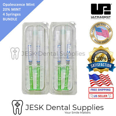 Mint 20% 4 Syringes Teeth Whitening Gel Opalescence PF EXP 07/2020