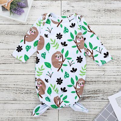 Baby Sleeping Bag Long Sleeve O-neck Bath Robe Night Gown Sleep Sack Clothing