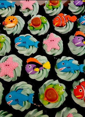 Assorted Edible Cupcake Cookie Toppers Custom Made in Royal Icing