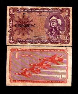 United States Usa 1 Dollar M79 1969 Mpc Military Series 681 Fighter Plane Note