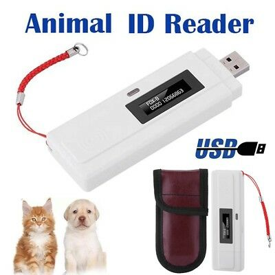 RFID 134.2Khz ISO FDX-B Chip Animal Dog ID Reader Microchip Portable Pet Scanner