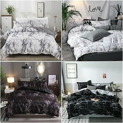 Magic Marble Quilt Duvet Doona Cover Set Single/Queen/King Size Bed Pillowcase