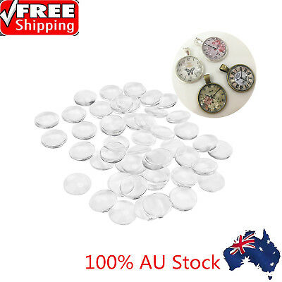 100X12mm Round Flat Back Transparent Clear Glass Cabochon for DIY Jewelry Making