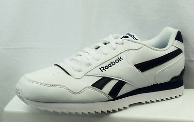Reebok Royal Glide Ripple Sneakers Mens Gents Runners Laces Fastened Ventilated