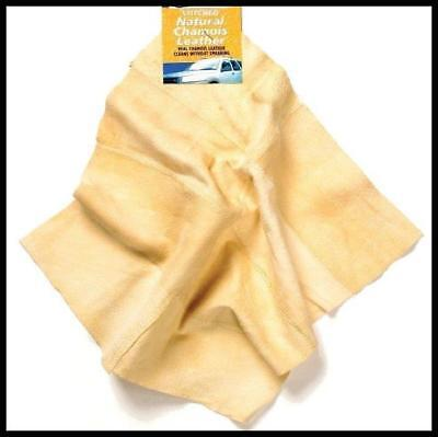 Genuine Shammy Leather Stitched Chamois Natural Real Car Valeting Cloth Window