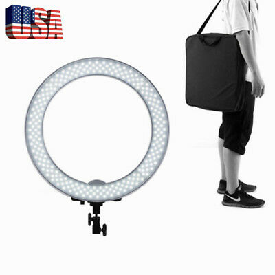 "180pcs LED 14"" 40W 5500K Dimmable Ring Light Fit Photo Video Makeup Studio /US!"