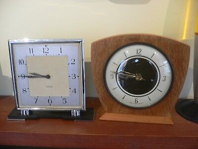 Vintage Art Deco Smiths 8 Day Clock & other Smiths.
