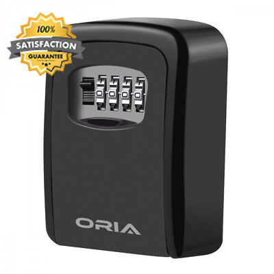 Oria Key Lock Box, Wall Mounted Safe, Storage Box Cabinets with 4-Digit...
