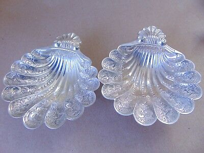 Wonderful Sterling Silver Shell Flowers Sweet/ Nut Dish London 1975