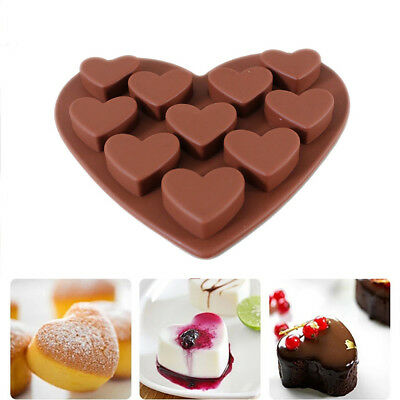 DIY Cute Kitchen Love Heart Shaped Silicone Molds Fondant Cake Chocolate Mold