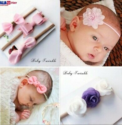 Baby Girl Headbands Newborn Girls Kids Head band Hairband Bow Flower Various Set