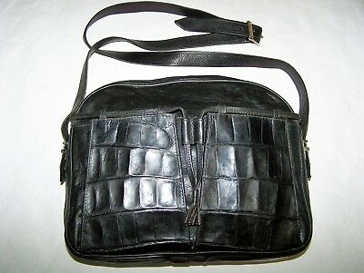 Borsa Walter Coccodrillo E Pelle 100% Crocodile And Leather Skin Vintage Bag '90