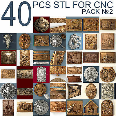 3dstl 3d stl Model relief 40 pcs Pack for CNC Router Artcam #2