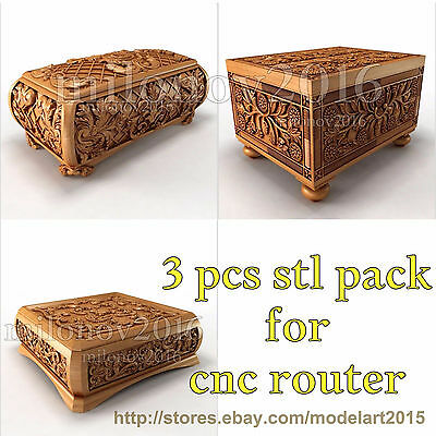 3d stl Model 3 pcs pack Relief for CNC Router Artcam Cut3d Aspire