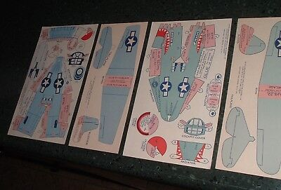 WW2 1944 Jack Armstrong Wheaties Cereal Premium uncut Model Airplanes