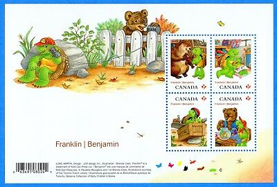 2012 Canada #2541 Benjamin & Franklin The Turtle Stamp Souvenir Sheet Mint-NH