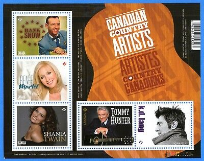 2014 Canada #2765 Canadian Country Artists Stamp Souvenir Sheet Mint-NH