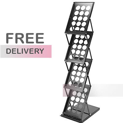 A4 Folding Brochure/ Leaflet Holder Trade/Exhibition Display Stand