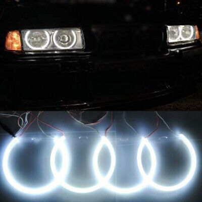 Halogen Headlight White CCFL Angel Eye Halo Rings Kit For BMW E39 E46 3 5 Series