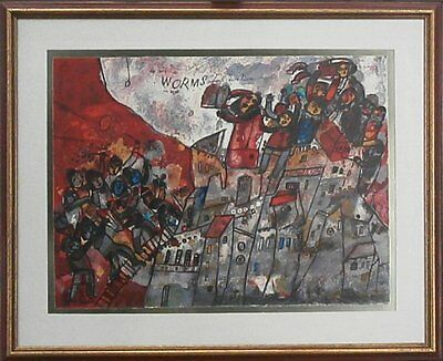 """Theo Tobiasse - L/E Lithograph of 25 """"Worms from Diaspora"""" Hand-signed"""