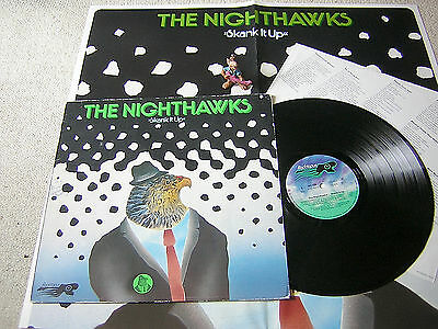 THE NIGHTHAWKS Skank It Up 1979 LP + OIS + POSTER, ROCKTOPUS, SKA