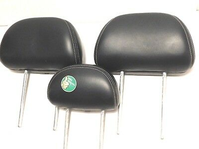 SET 2006 Mercury Mariner Headrests Rear BLACK Leather 06 Head Rests Rest White