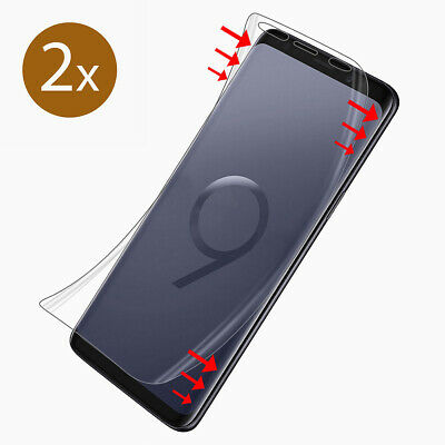 2x Panzer Folie 3D für Samsung Galaxy S9 Display Schutz Folie Full Cover KLAR