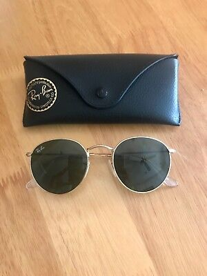 New Ray-Ban Round Metal Gold Frame/Classic G-15 Lens Sunglasses (RB3447 001 50)