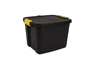 CEP 42 Litres Heavy Duty Storage Box, Black/Yellow, 50 x 40 x 35 cm