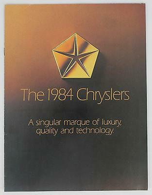 Chrysler 1984 A Singular Marque of Luxury Sales Brochure / Literature