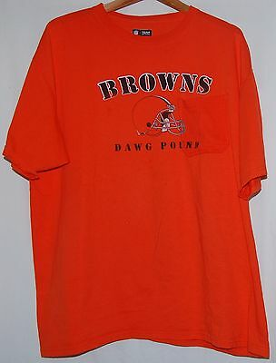 VINTAGE 90S CLEVELAND Browns DAWG POUND T Shirt Mens XL NFL Football ... 1a30ccdbf