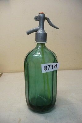 8714. Alte Sodaflasche  Siphonflasche 1 l Old soda siphon seltzer
