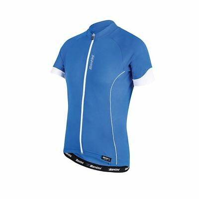 Cycling Jersey Short Sleeve Santini Ora Turquoise XXL Breathable Full Zip e050070c3
