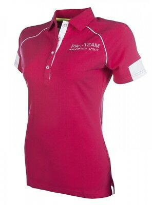 Kinder Poloshirt NEON SPORTS HKM Pro Team pink 164