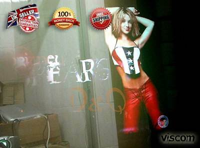 """32"""" Holographic Rear Projection Film - Transparent - Self Adhesive"""