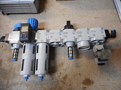 FESTO AIR SERVICE UNIT -- REG/FILTER/PRESSURE SWITCH and MORE - METAL BODIED