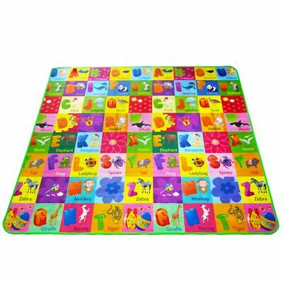 Double Sided Animal Car+Fruit Letter Baby Play Mats Crawling Pad Kids Game
