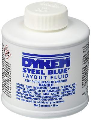 Dykem 80300 Steel Blue Layout Fluid 4oz metalworking scribe quick dry Brush Cap
