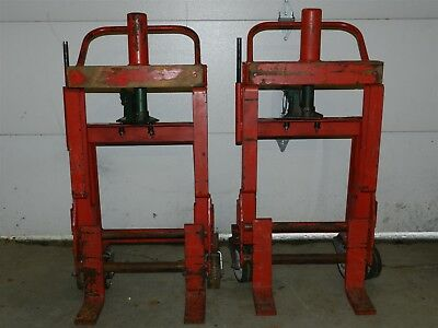 Pair of ROL-A-LIFT Model M4-6 Heavy Duty Moving Dollies 3000lb