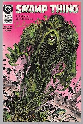 SWAMP THING 73 SIGNED BY RICK VEITCH John Constantine Abigail Cable Sprout DC