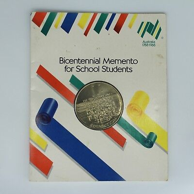 1988 Bicentennial Memento for School Students Australian Coin