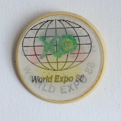 Brisbane World Expo 88 German Pavilion Reflective Vintage Queensland Badge Pin