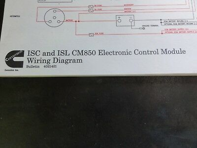 Cummins isc and isl cm850 electronic control module wiring diagram detroit diesel wiring diagram cummins isc and isl cm850 electronic control module wiring diagram 4021421