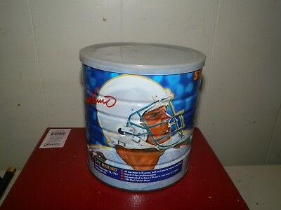 Circa 1980's Maxwell House Star Quarterbacks Coffee Tin w/ Lid-Dan Marino