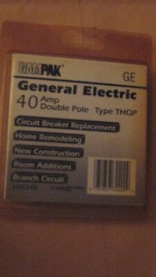GE THQP-240 Circuit Breaker, Double Pole, 40 Amp  nib